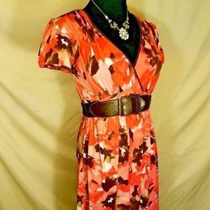 Wrapper Women's Size Medium Dress with Belt
